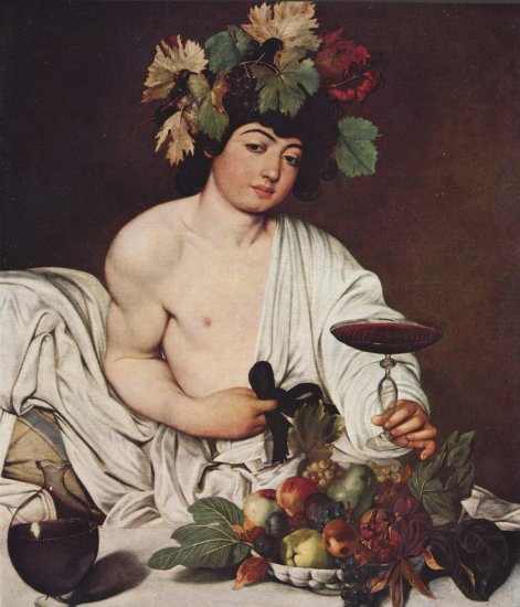 Cuadros en Óleo Originales Baco Caravaggio