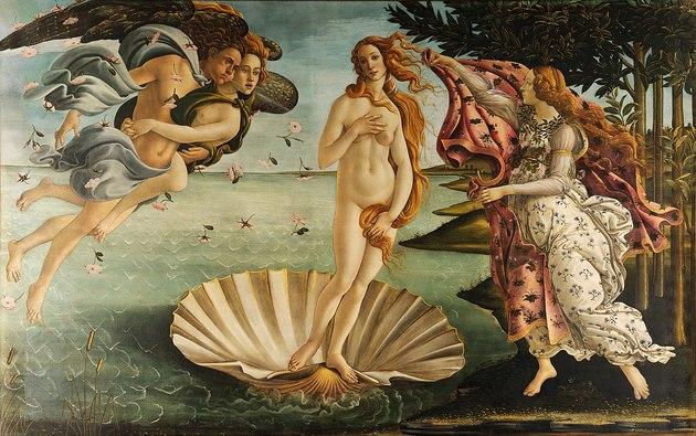 Cuadros en Óleo Originales el nacimiento de Venus de Botticelli