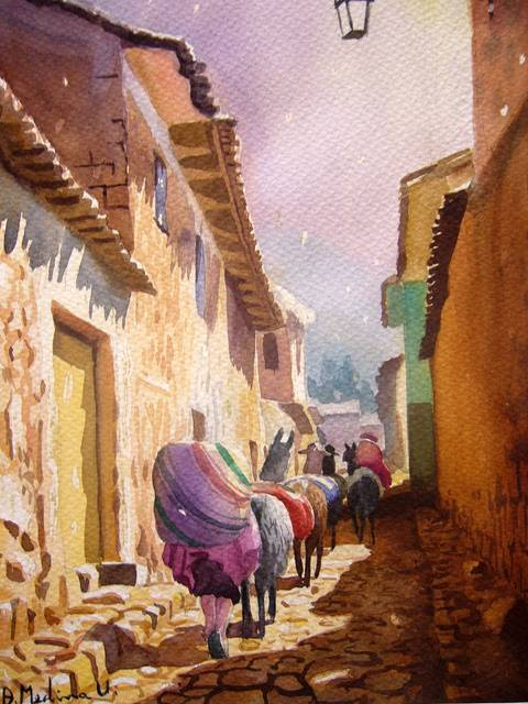 obra Calle San Geronimo de Alcides Medina