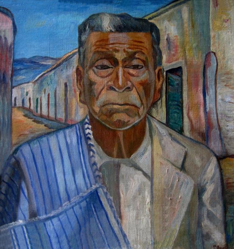 obra al oleo Monsefuano de Pedro Azabache Bustamante