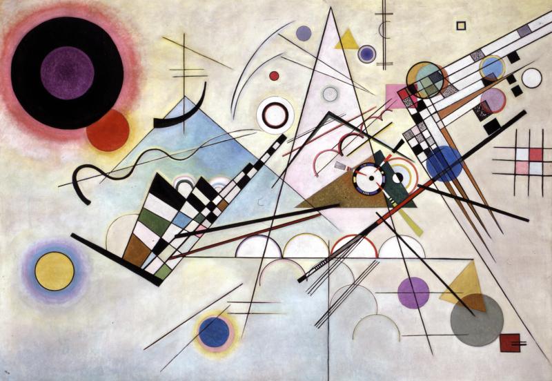 Composición Ocho de Vasili Kandinsky