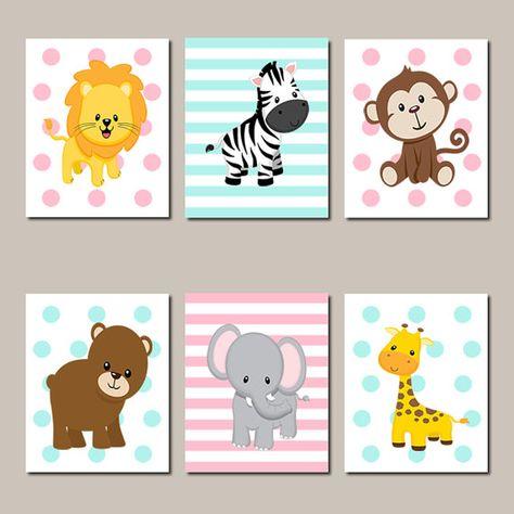 cuadros de animales infantiles
