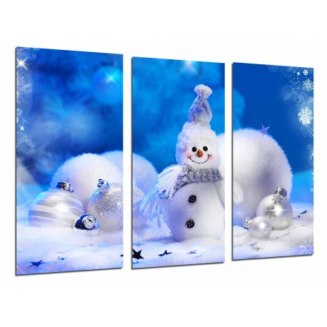 cuadro de navidad de muñeco de nieve