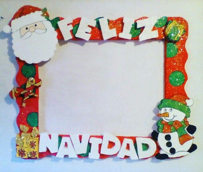 cuadro de madera de navidad