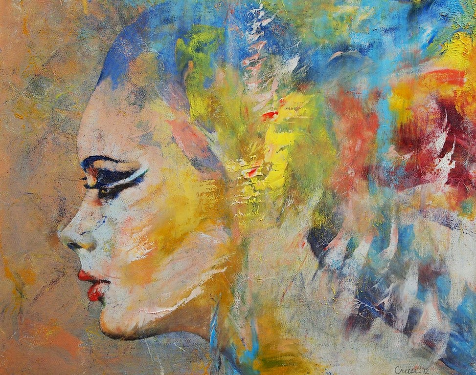 cuadros de rostros de mujer